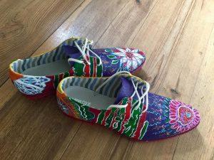 handgeschilderde schoenen
